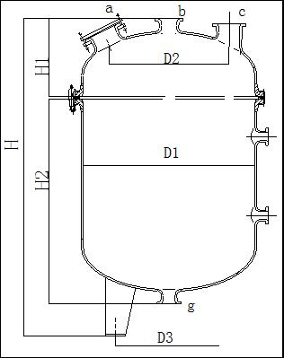 搪玻璃蒸开式立式储罐